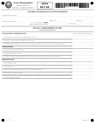 "Form BET-80 ""Business Enterprise Tax Apportionment"" - New Hampshire, 2020"