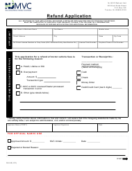 "Form RU-9 ""Refund Application"" - New Jersey"