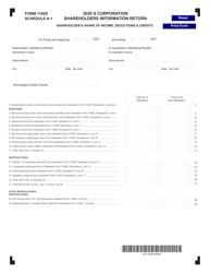 "Form 1100S Schedule A-1 ""S Corporation Shareholders Information Return"" - Delaware, 2020"