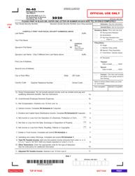 "Form PA-40 ""Pennsylvania Income Tax Return"" - Pennsylvania, 2020"