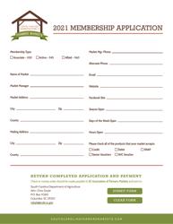"""South Carolina Association of Farmers Markets Membership Application"" - South Carolina, 2021"