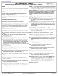 """DD Form 2792 """"Family Member Medical Summary"""""""