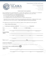 """Catcher-Seller Permit Application"" - Alaska"
