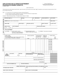 """Form CO-898A """"Application for Alternate Retirement Program Retirement Benefits"""" - Connecticut"""