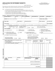 "Form CO-898 ""Application for Retirement Benefits"" - Connecticut"