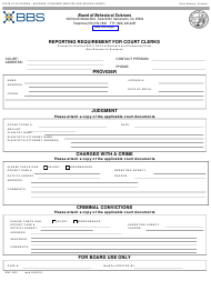 """Form ENF-803 """"Reporting Requirement for Court Clerks"""" - California"""