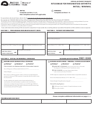 """Form HLTH5373 """"Special Authority Request - Rituximab for Rheumatoid Arthritis - Initial/Renewal"""" - British Columbia, Canada"""