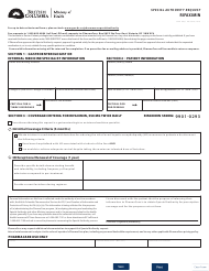 """Form HLTH5483 """"Special Authority Request - Rifaximin"""" - British Columbia, Canada"""
