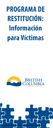 """Restitution Program Application Form for Victims"" - British Columbia, Canada (English/Spanish)"