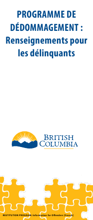 """""""Restitution Program Application Form for Offenders"""" - British Columbia, Canada (English/French)"""