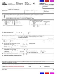 "Form 42 (0042A) ""Employer's Progress Report"" - Ontario, Canada"