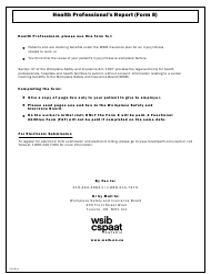 "Form 8 (0008A) ""Health Professional's Report"" - Ontario, Canada"