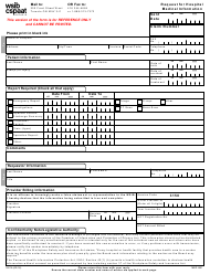 """Form 1801A """"Request for Hospital Medical Information"""" - Ontario, Canada"""