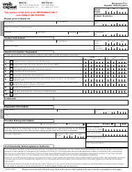 """Form 2012A """"Request for Health Information"""" - Ontario, Canada"""