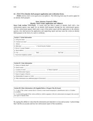 """Identity Theft Victim Application and Affidavit"" - Iowa"