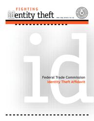 """Identity Theft Affidavit"" - Texas"