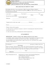 """Declaration of Identity Theft"" - Hawaii"