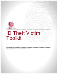 """Identity Theft Affidavit"" - North Carolina"
