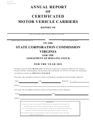 "Form C.C.T.D.9 ""Annual Report of Certificated Motor Vehicle Carriers"" - Virginia"