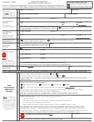 """Form B-58 IND """"Individual Change of Address/Organ & Tissue Donor Status/Voter Registration Application"""" - Connecticut"""