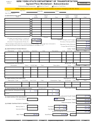 """Form MURK27 """"Agreed Price Worksheet - Subcontractor"""" - New York"""