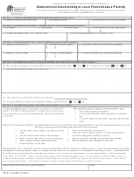 """DSHS Form 14-436 """"Statement of Adult Acting in Loco Parentis (As a Parent)"""" - Washington"""