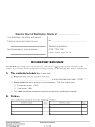 "Form FL Parentage303 ""Residential Schedule"" - Washington"