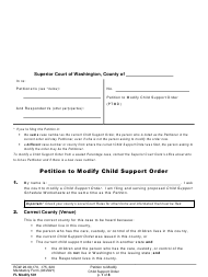 "Form FL Modify501 ""Petition to Modify Child Support Order"" - Washington"