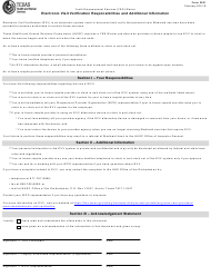 """Form 2821 """"Electronic Visit Verification Responsibilities and Additional Information"""" - Texas"""