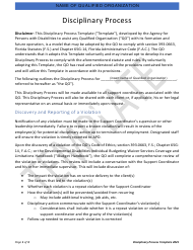 """""""Disciplinary Process Template"""" - Florida"""