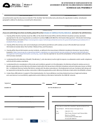 """Form HLTH4558 Schedule 22A """"Re-attestation of Compliance With the Government of British Columbia Wireless Standards - Pharmacy"""" - British Columbia, Canada"""