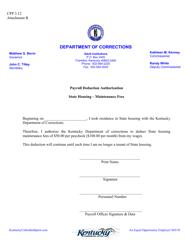 "Attachment B ""Payroll Deduction Authorization"" - Kentucky"