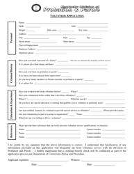 """Volunteer Application"" - Kentucky"