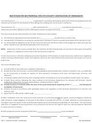 "Form LR1.2 ""Invitation for Bid Proposal for City/County Codification of Ordinances"" - Kentucky"