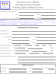 """""""Training Approval Request Form"""" - Kentucky"""