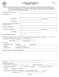 "Form SBC011 ""Application - Loans"" - Louisiana"