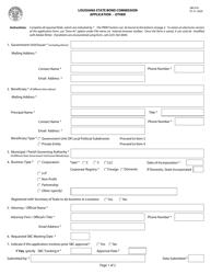 "Form SBC018 ""Application - Other"" - Louisiana"