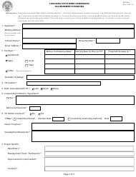 "Form SBC006 ""Tax Increment Financing"" - Louisiana"