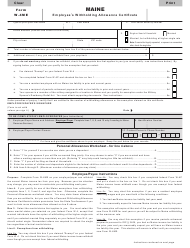 "Form W-4ME ""Employee's Withholding Allowance Certificate"" - Maine"