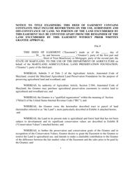 """""""Deed of Easement"""" - Maryland"""