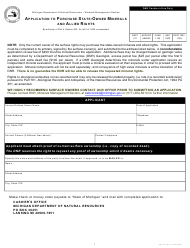 """Form PR4311 """"Application to Purchase State-Owned Minerals and Allied Rights"""" - Michigan"""