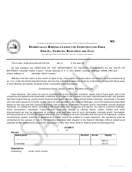 """Form PR4332 """"Nonmetallic Minerals Lease for Construction Sand, Gravel, Cobbles, Boulders and Clay"""" - Michigan"""