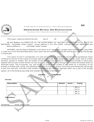 """Form PR4350 """"Underground Natural Gas Storage Lease"""" - Michigan"""