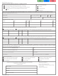 """Form SHP-159K """"Request for Child Abuse or Neglect/Criminal Record"""" - Missouri"""
