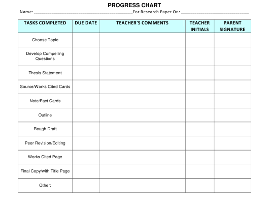 """Progress Report Template - the Syracuse City School District"" - New York Download Pdf"