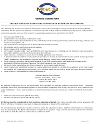 Instructions for Form MGCB-RAL-4015, MGCB-RAL-4016 - Michigan
