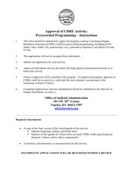 """Approval of Cdre Activity: Prerecorded Programming - Application"" - Kansas"