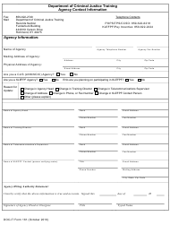 """DOCJT Form 161 """"Agency Contact Information"""" - Kentucky"""