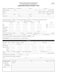 "Form U-7 ""Casing Mechanical Integrity Test"" - Kansas"