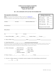 """Rn / Lpn Licensure Application for Examination"" - Kansas"